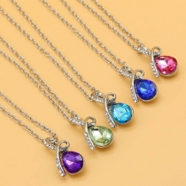 Fashion Angel Tears Water-drop Crystal Pendant Necklace