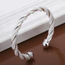 Fashion Silver-tone Twisted Bracelet