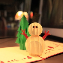 Cute 3D Snowman Christmas Greeting Cards