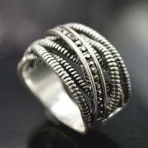 Chic Style Rhinestone Crossover Rings