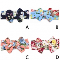 Sweet Printed Bowknot Headband for Children