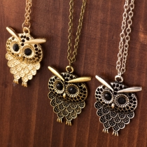Retro Style Owl Pendant Necklace