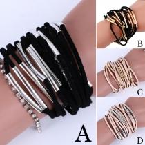 Fashion Style Multi-Layer Hand Woven Bracelet