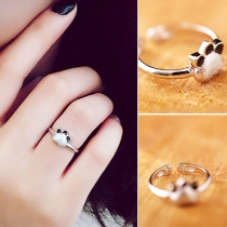 Cute Style Cat Paw Shaped Open Ring