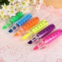 Cute Cartoon Syringe Shaped Fluorescence Marking Pen