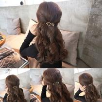 Fashion Elegant Geometric Triangle Shaped Hairpin