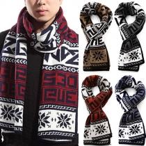 Fashion Retro Splice Knit Woolen Scarf
