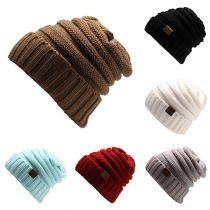 Fashion Solid Color Knit Cap Beanies