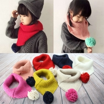 Fashion Triangle Shaped Unisex Knit Woolen Scarf For Children