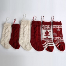 Cute Style Christmas Decorative Socks Knitted Socks