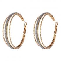 Fashion Rhinestone Round Circle Shaped Earring