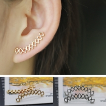 Fashion Gold/Silver-tone Hollow Out Alloy Stud Earrings