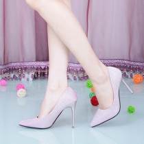 Sexy Pointed Toe Solid Color Stiletto Shoes