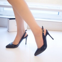 Fashion Pointed Toe Buckle Strap High-heeled Shoes