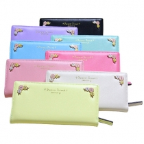 Fashion Candy Color Flowers Long-style Wallet