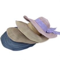 Fashion Foldable Bowknot Wide Brim Straw Hat Sun Hat