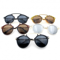 Fashion Round Frame Sunscreen UV Unisex Sunglasses