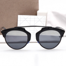 Elegant Round Frame Anti-UV Sunscreen Sunglasses