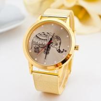 Fashion Steel Watch Band Round Dial Quartz Watches