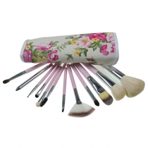12 PCS Professional Makeup Brush Set with Pouch