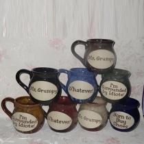 Retro Letters Printed Ceramic Crafts Ceramic Cup