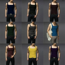 Fashion Solid Color Men's Sports Tank Tops