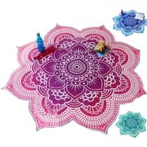 Fashion Printed Flower-shaped Beach Towel Shawl