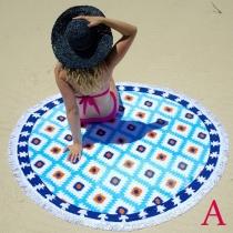 Bohemian Printed Tassel Round Beach Towels or Shawl