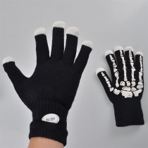 Creative LED Lighting Skull Gloves
