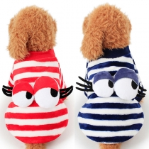 Cute Style 3D Eyes Striped Pets Clothes