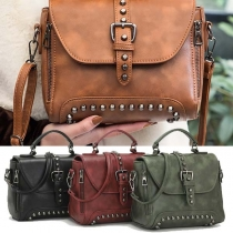 Retro Style Rivets Handbag Shoulder Messenger Bag
