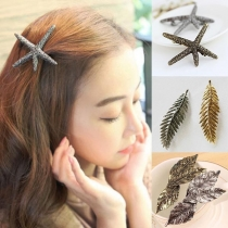 Retro Style Starfish/Leaf Shaped Hairpin