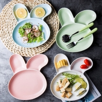 Cute Carton Rabbit Ear Shaped Tableware for Kids