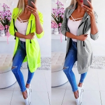 Fashion Solid Color Long Sleeve Thin Hoodie(It falls small)