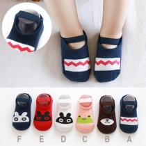 Cute Cartoon Pattern Anti-slip Baby Floor Socks  2 pairs/Set