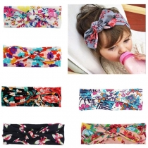 Bohemian Style Printed Bow-knot Head Band for Kids -4 piece/set