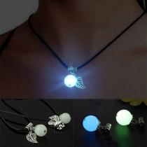 Fashion Glowing Leaf/Rabbit Pendant Necklace