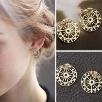 Chic Style Sky Wheel Shaped Stud Earrings