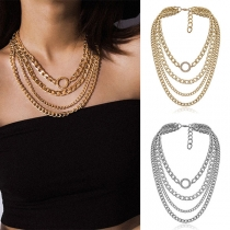 Punk Style Multi-layer Alloy Necklace