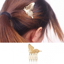 Fashion Butterfly Shaped Alloy Comb Hair Pin