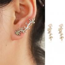 Fresh Style Tree Branch Shaped Stud Earrings
