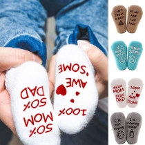 Fashion Letters Printed Anti-slip Socks for Babies  2 pairs/set