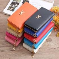 Fashion Solid Color Bow-knot Wallet