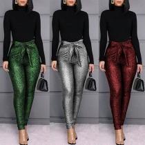Fashion High Waist Slim Fit Pants