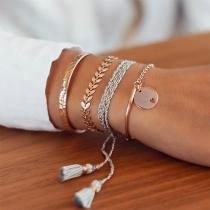 Retro Style Tassel Bracelet Set 4 pcs/Set