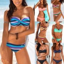 Sexy Low-waist Bandeau Bikini Set