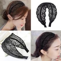Fashion Hollow Out Lace Headband