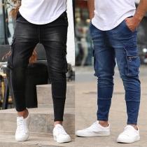 Fashion Side-pocket Man's Jeans