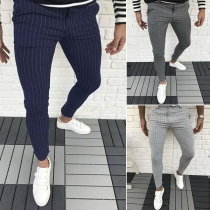 Fashion High Waist Striped Man's Pants
