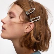Fashion Rhinestone Inlaid Hair-pin 3 pcs/Set